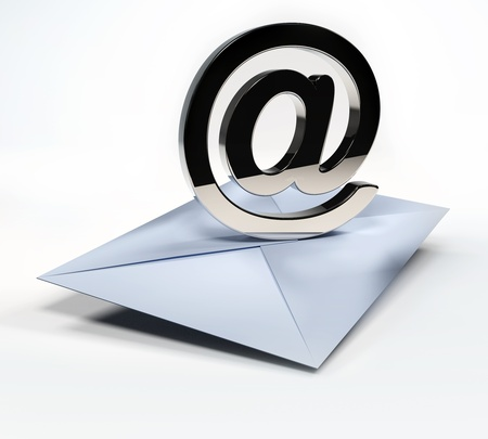 Envelope with email symbol - email concept  photo