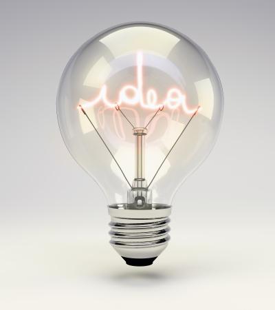 アイデア電球