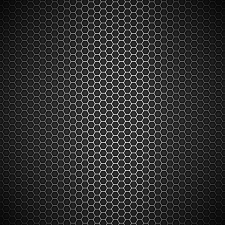 Metallic abstract backdrop with honeycomb grid Vector