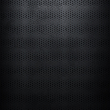 perforated: Metallic background with perforated plate Illustration
