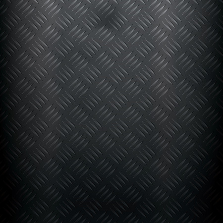diamond plate: Metallic background with stained diamond plate