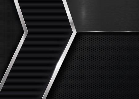 malla metalica: Fondo metálico oscuro para el diseño Vectores