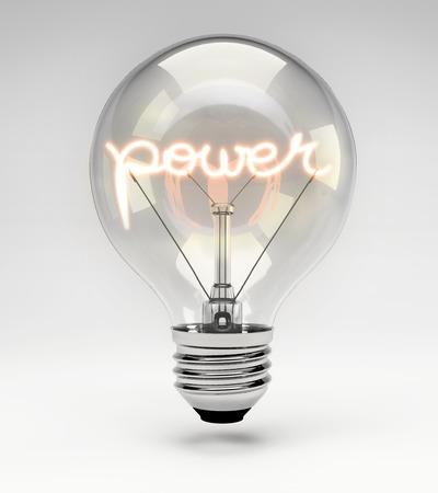 filaments: Light bulb with realistic fluorescent filament - power, concept (Set)