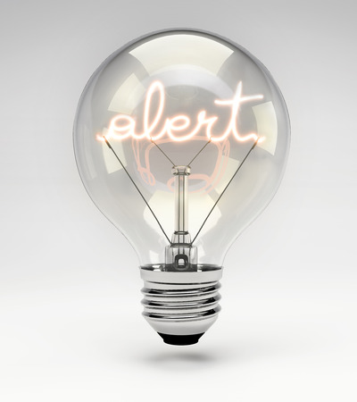 filament: Light bulb with realistic fluorescent filament - alert concept (Set)