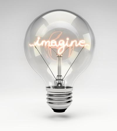 現実的な蛍光灯のフィラメントの電球を想像する概念 (セット)