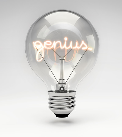 Light bulb with realistic fluorescent filament - genius concept (Set)