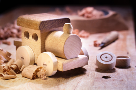 Making Wooden Toys 版權商用圖片