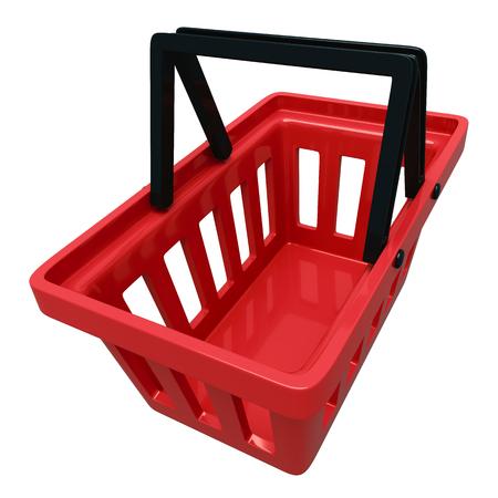 empty basket: Empty Shopping Basket Isolated Over White Background