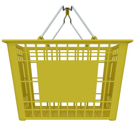 isolated over white: Empty shopping basket isolated over white background