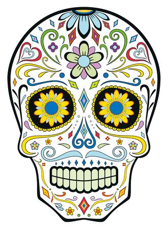 Mexican sugar skull - dia de los muertos.