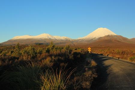 Sunset view near Mount Ngauruhoe, New Zealand