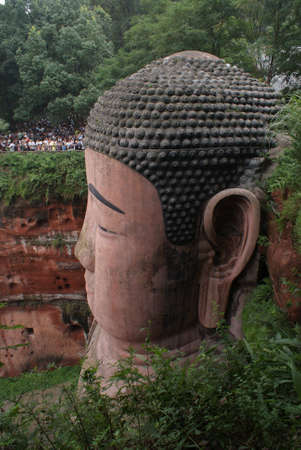 maitreya: Giant Buddha in Leshan, China Stock Photo