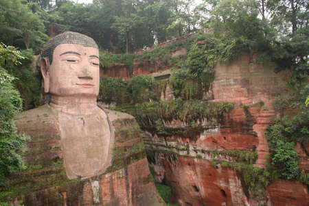 Giant Buddha in Leshan, China Stock Photo