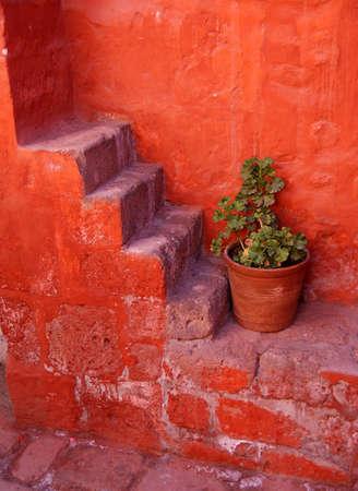 credence: monastery of santa catalina, arequipa, peru