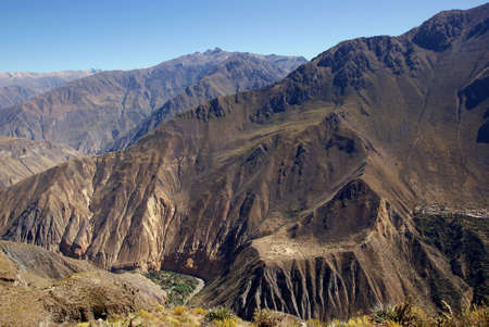 colca canion, peru photo