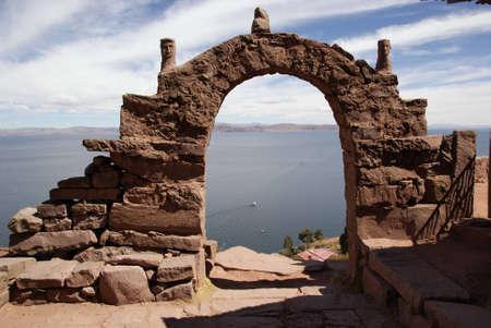 taquile island, titicaca lake, peru photo