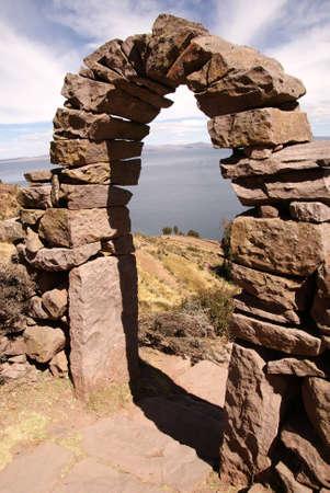 locals: taquile island, titicaca lake, peru