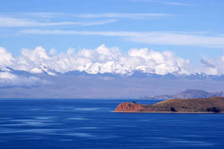Mount Illimani, Isla del Sol, Bolivia photo