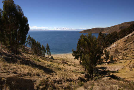 Isla del sol, Titicaca lake, Bolivia Stock Photo - 10961592