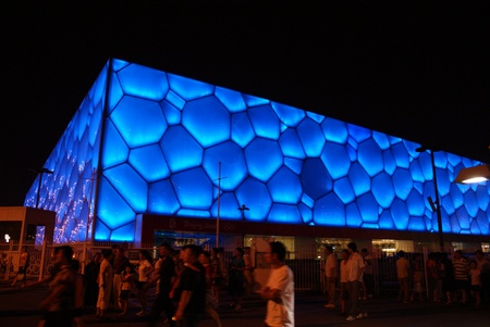 olympic game: Blue wall, Beijing