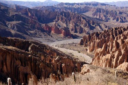 INCROYABLE paysage pr�s de Tupiza, Bolivie Banque d'images