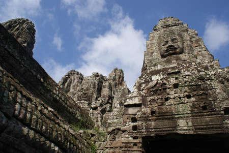 Ancient Bayon temple in Angkor , Cambodia Stock Photo - 11810220