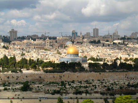 places of worship: The old city of Jerusalem, Dome of the Rock, Israel