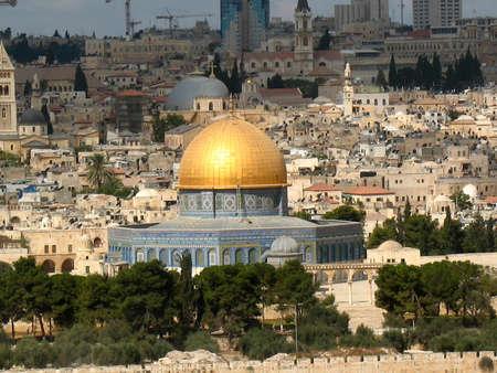 The old city of Jerusalem, Dome of the Rock, Israel photo