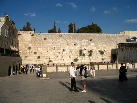 israelite: The Wailing Wall, Jerusalem, Israel Editorial