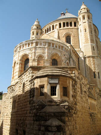 mediaval: Hagia Maria Sion Abbey in Jerusalem, Israel