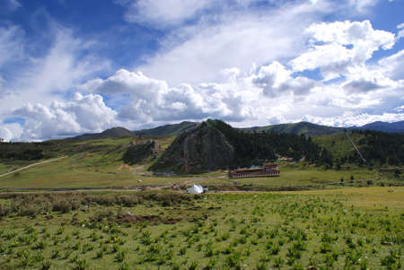 Buddist Monastery in Litang, Tibet, China photo