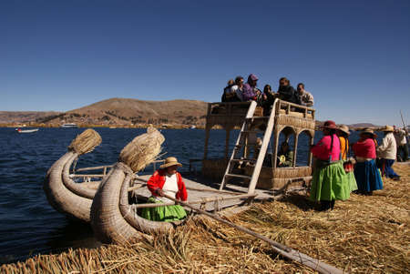 Uros, Floating island on titicaca lake in Peru