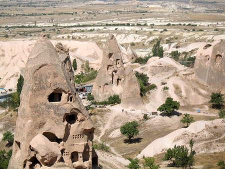 Uchisar cave city in Cappadocia, Turkey  photo