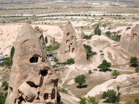 goreme: Uchisar cave city in Cappadocia, Turkey