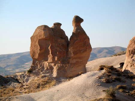 Fairy chimneys near Goreme, Cappadocia, Turkey photo