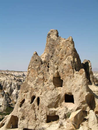 Ancient cave-town in Goreme, Cappadocia, Turkey Stock Photo - 13748426