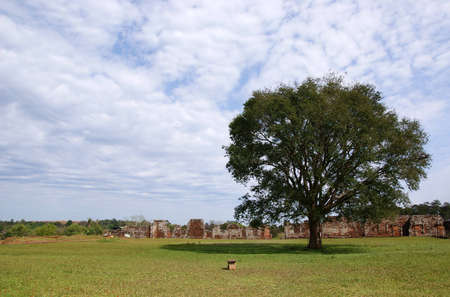 Jesuit mission Ruins in Trinidad, Paraguay Stock Photo - 14000155