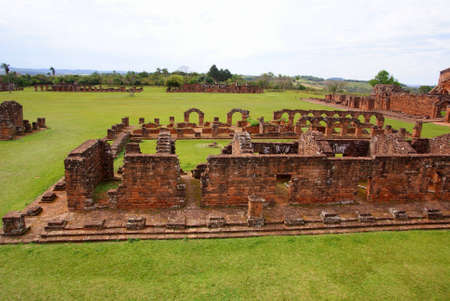 Jesuit mission Ruins in Trinidad, Paraguay photo