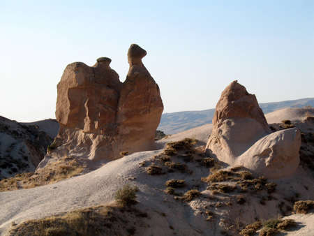 Fairy chimneys near Goreme, Cappadocia, Turkey Stock Photo - 13999966