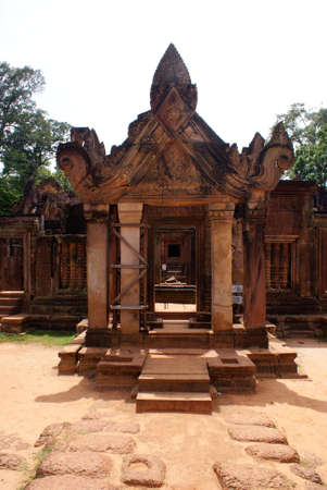 Ancient temple in Angkor, Cambodia photo