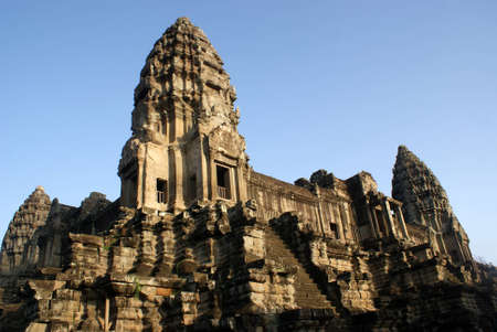 Ancient temple in Angkor wat, Cambodia photo