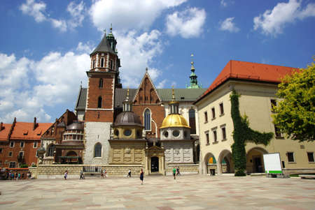 Wawel Cathedral, The Cathedral Basilica of Sts. Stanislaw and Vaclav  on the Wawel Hill in Cracow  photo