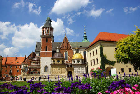 Wawel Cathedral, The Cathedral Basilica of Sts. Stanislaw and Vaclav  on the Wawel Hill in Cracow  Stock Photo - 14392217