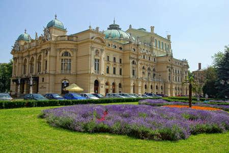 The Slowacki theater, Krakow Stock Photo