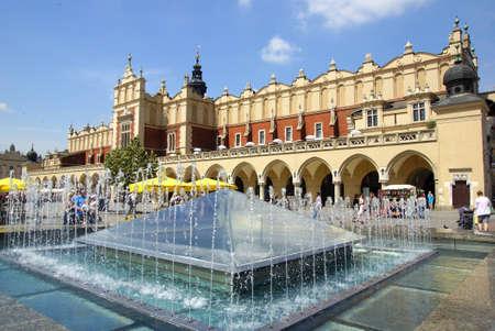 Old sloth hall, Sukiennice on the Krakow main square, Poland