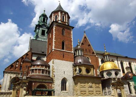La cath�drale du Wawel, la Basilique des Saints. Stanislas et Vaclav sur la colline de Wawel � Cracovie Banque d'images