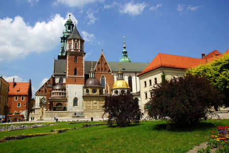 wawel: Wawel Cathedral, The Cathedral Basilica of Sts. Stanislaw and Vaclav  on the Wawel Hill in Cracow