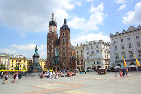 The Main Market Square in Cracow, Old Town, Poland Editorial