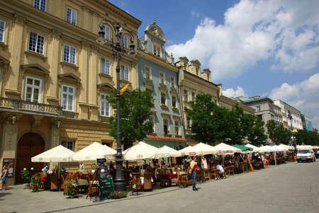 main market: La Piazza del Mercato a Cracovia, Centro Storico, Polonia