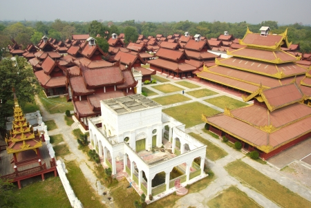 The royal palace in Mandalay, Myanmar 報道画像